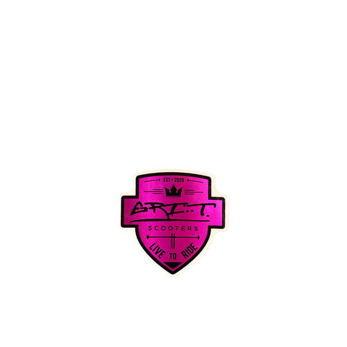 Grit Scooters Shield Sticker - Purple - Prime Delux Store