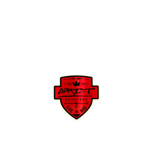 Grit Scooters Shield Sticker - Red - Prime Delux Store