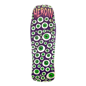 "Load image into Gallery viewer, Heroin Eyeballer Shaped Deck 10.1"" - Purple - Prime Delux Store"