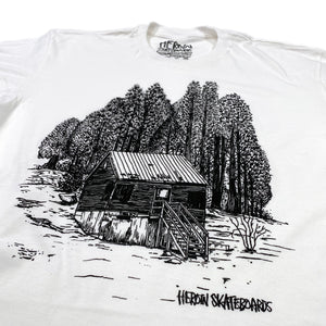 Load image into Gallery viewer, Heroin Cabin T Shirt - White - Prime Delux Store