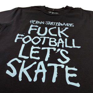 Load image into Gallery viewer, Heroin Fuck Football T Shirt - Black - Prime Delux Store