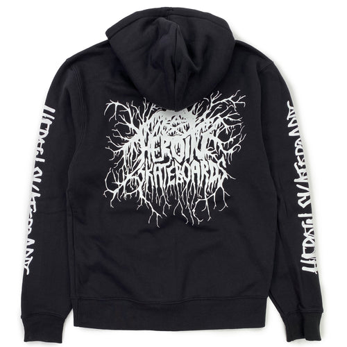 Heroin Roots Hooded Sweat - Black - Prime Delux Store