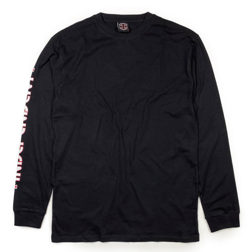 Independent Bar Cross Long Sleeve T - Black - Prime Delux Store