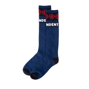 Independent Socks Woven Crosses Sock - Blue - Prime Delux Store