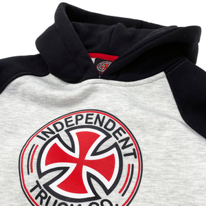 Load image into Gallery viewer, Independent Youth Hood Directional Raglan Hood - Black / Athletic Heather - Prime Delux Store