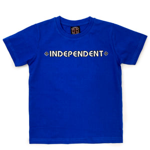 Load image into Gallery viewer, Independent Youth Bar Cross T-Shirt - Royal - Prime Delux Store