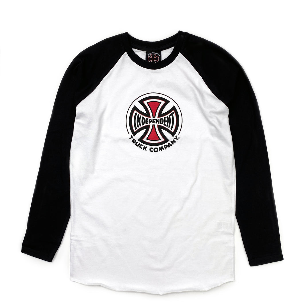 Independent Youth Truck Co. L/S Baseball T Shirt - Black / White - Prime Delux Store