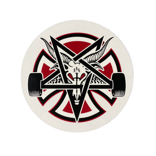 Independent Thrasher Pentagram Cross - Red / Black - Prime Delux Store