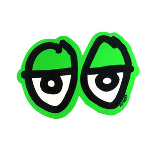 Krooked Eyes Diecut Sticker - M - Green - Prime Delux Store