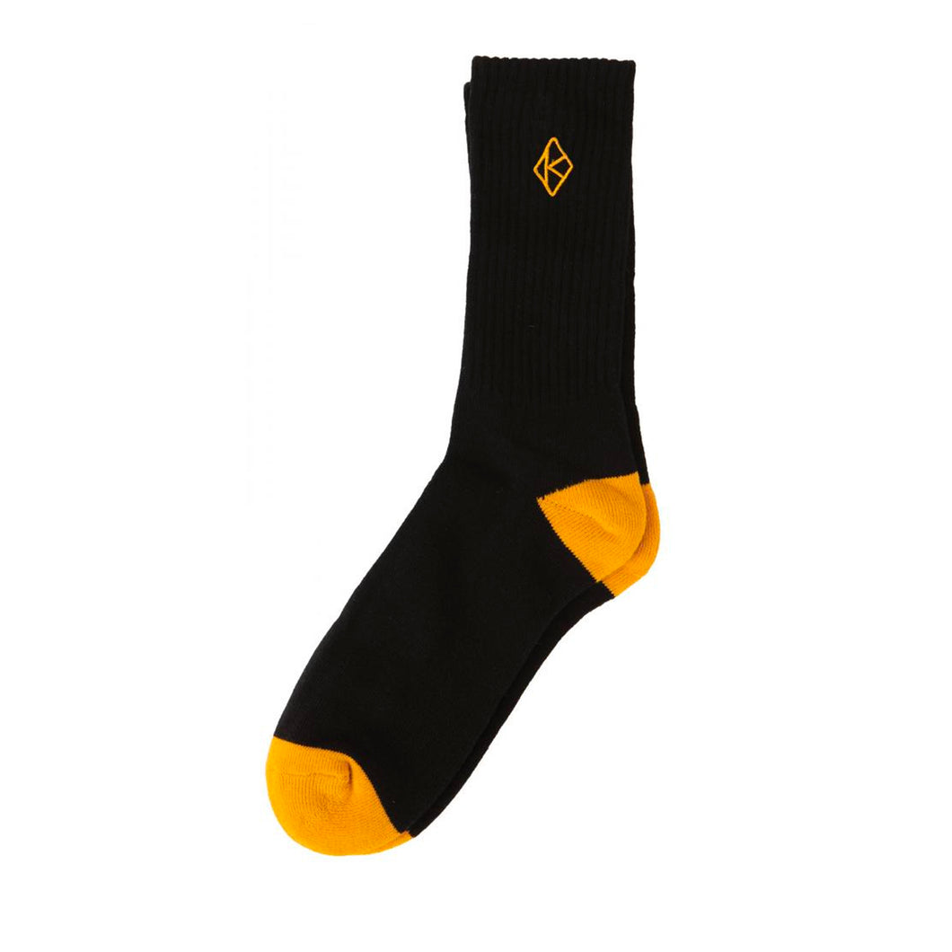 Krooked Sock Diamond K - Black/Gold Emb. - Prime Delux Store