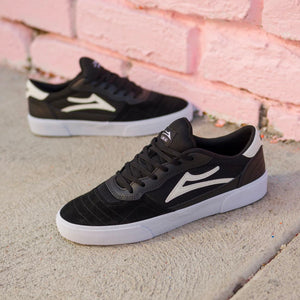 Lakai Cambridge Shoe - Black / White Suede - Prime Delux Store