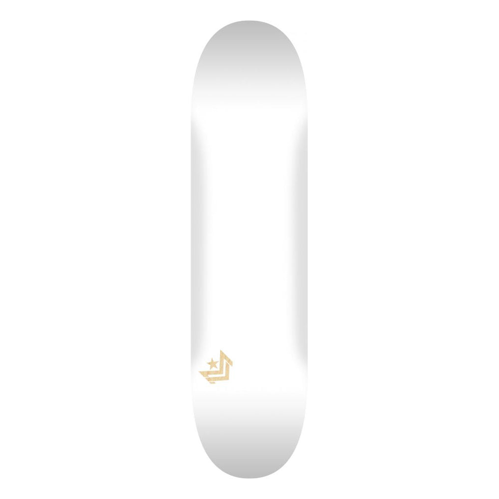 Mini Logo Deck White 7.5