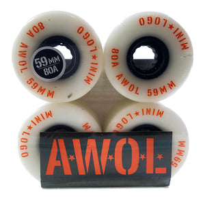 Load image into Gallery viewer, Mini Logo - 59mm - A.W.O.L Wheels - Prime Delux Store
