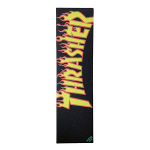 "Mob Thrasher Yellow Orange Flame Griptape Sheet - 33 x 9"" - Prime Delux Store"
