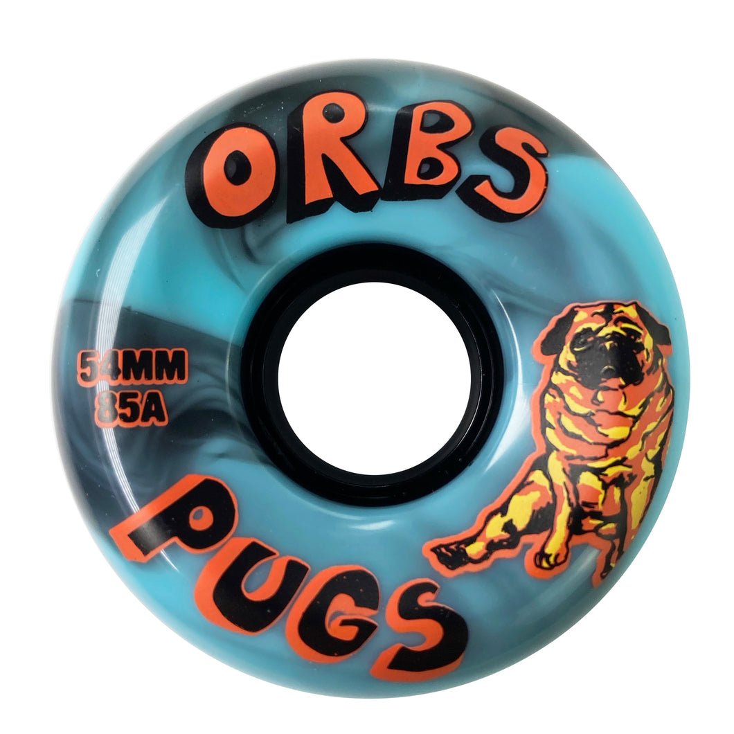 Orbs Pugs 85A Soft Wheels Blue / Blue - 54mm - Prime Delux Store
