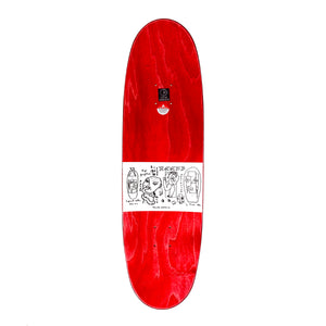 "Load image into Gallery viewer, POLAR Dane Brady Skyscraper - Wheel Wells Football Deck 8.75"" - Red - Prime Delux Store"