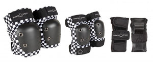 Load image into Gallery viewer, Pro-Tec Street Gear Junior Pads 3 Pack Checker Youth - Prime Delux Store