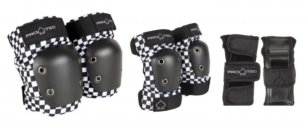 Pro-Tec Street Gear Junior Pads 3 Pack Checker Youth - Prime Delux Store