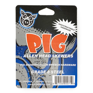 "Load image into Gallery viewer, Pig Skewers Allen Key Truck Bolts 1"" - Black / Red - Prime Delux Store"