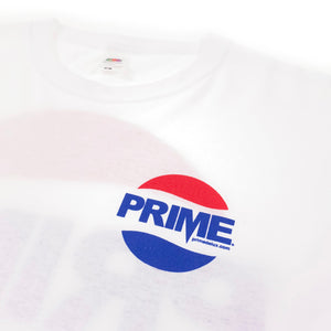 Load image into Gallery viewer, Prime Delux Prepsi Logo Long Sleeve T Shirt - White - Prime Delux Store