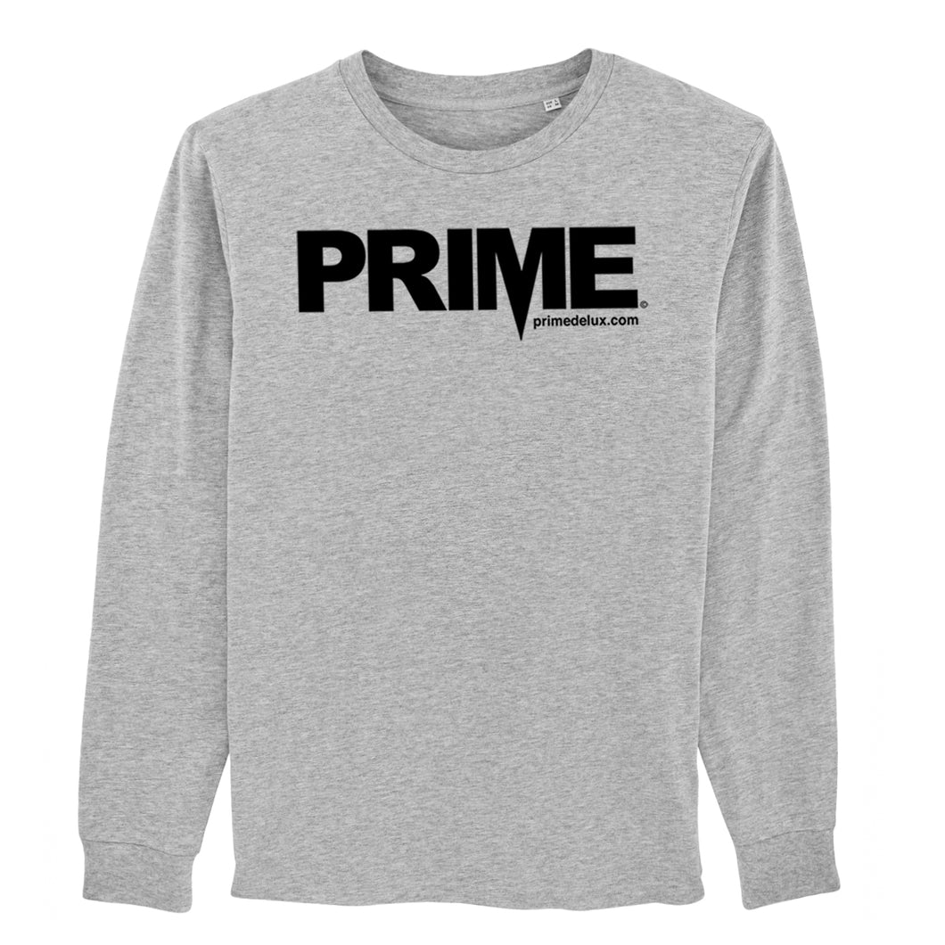 Prime Delux OG Long Sleeve T Shirt - Grey / Black - Prime Delux Store