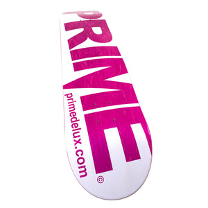 "Load image into Gallery viewer, Prime Delux O.G Invert Deck 8.25"" - White / Pink - Prime Delux Store"