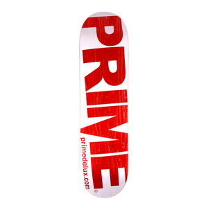 "Load image into Gallery viewer, Prime Delux O.G Invert Deck 8"" - White / Red - Prime Delux Store"