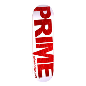 "Load image into Gallery viewer, Prime Delux - 8.5"" - O.G Invert Deck - White / Red - Prime Delux Store"