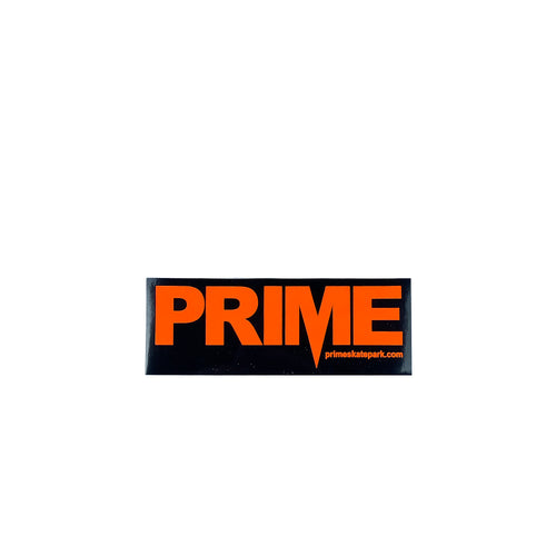 Prime Delux OG SP Sticker M - Black / Neon Orange - Prime Delux Store