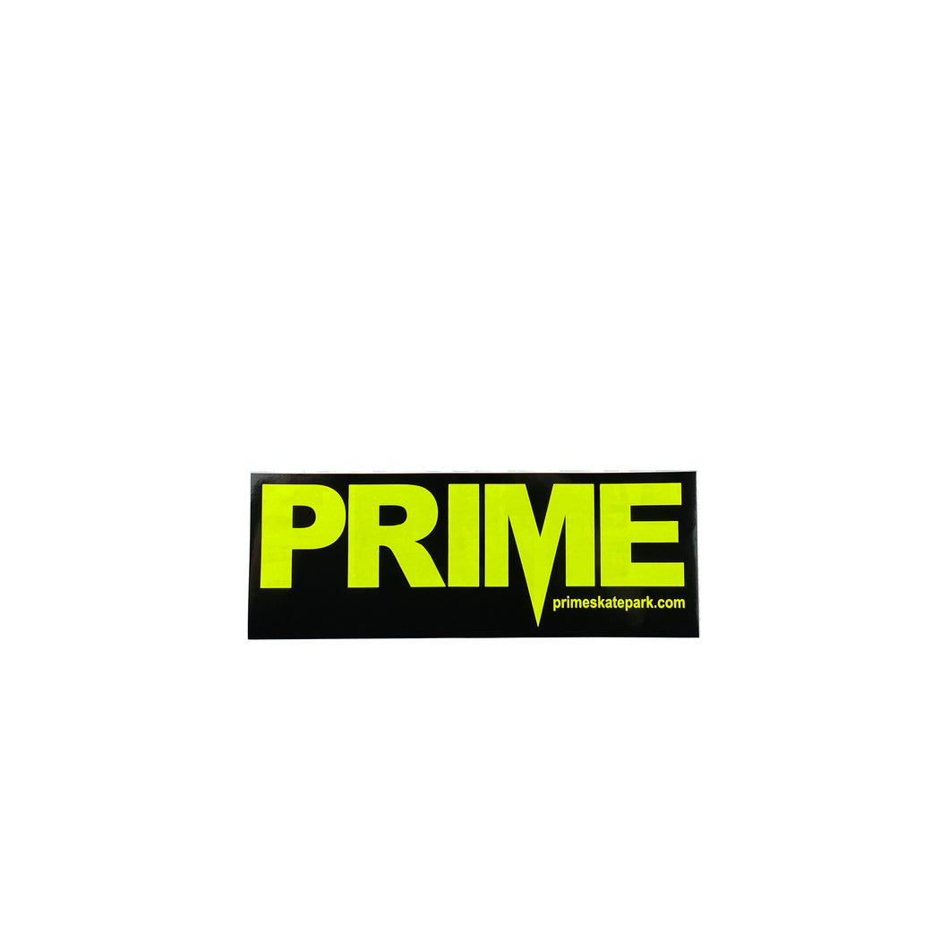 Prime Delux OG SP Sticker M - Black / Neon Yellow - Prime Delux Store