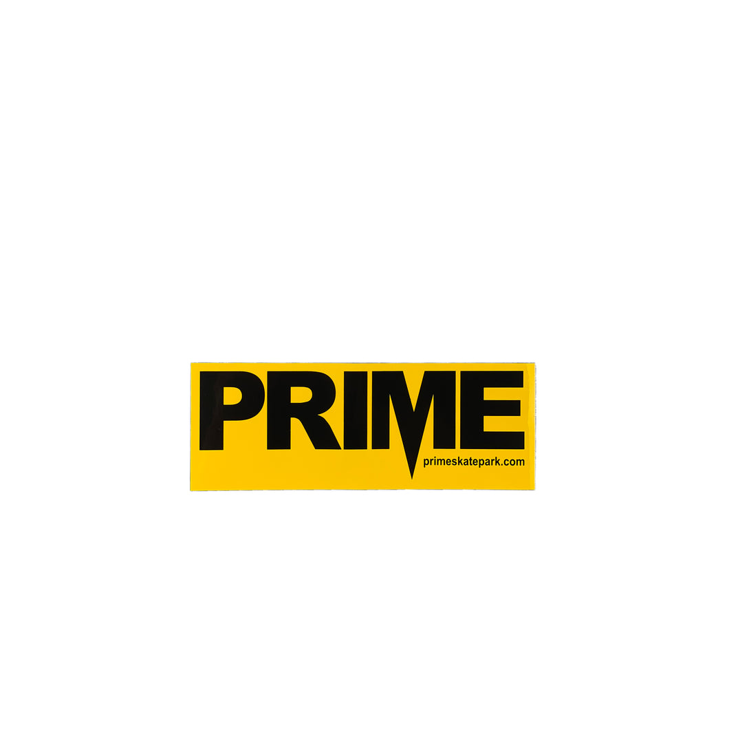 Prime Delux OG SP Sticker M - Taxi Yellow / Black - Prime Delux Store