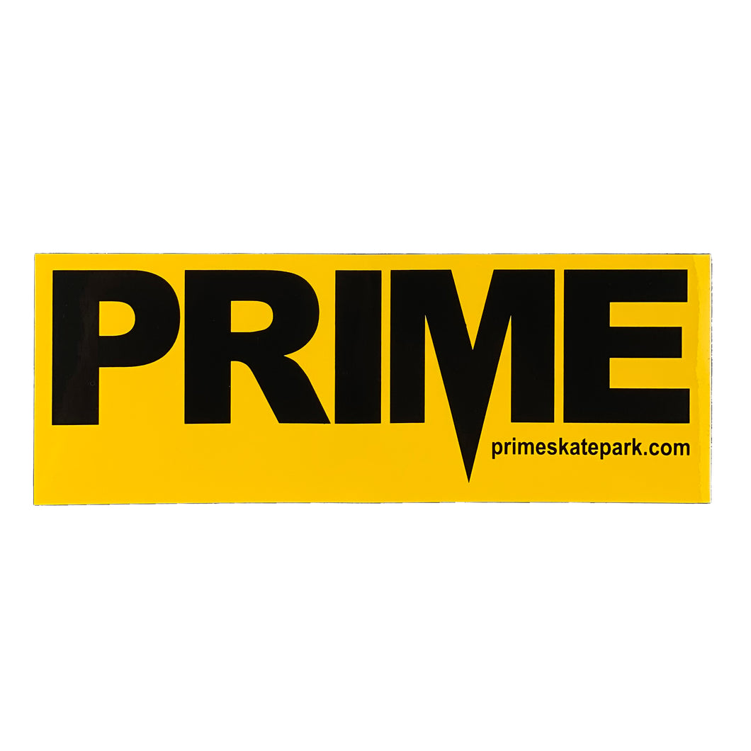 Prime Delux OG SP Sticker XXL - Taxi Yellow / Black - Prime Delux Store