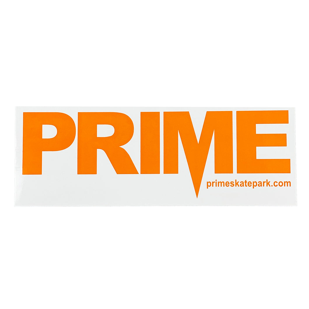 Prime Delux OG SP Sticker XXL - Orange / White - Prime Delux Store