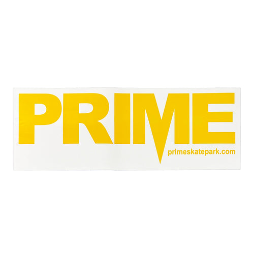 Prime Delux OG SP Sticker XXL - White / Taxi Yellow - Prime Delux Store