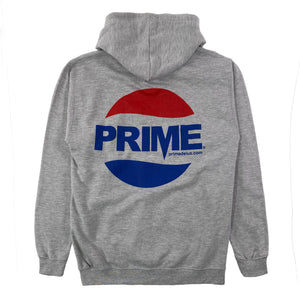 Load image into Gallery viewer, Prime Delux Prepsi Logo Hooded Sweat - Heather Grey - Prime Delux Store