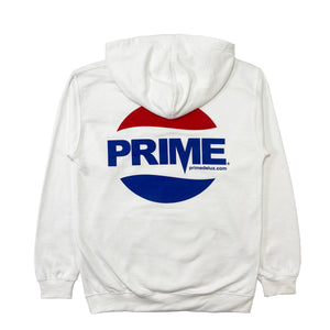 Load image into Gallery viewer, Prime Delux Prepsi Logo Kids Hooded Sweat - White - Prime Delux Store