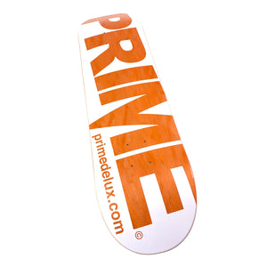 "Load image into Gallery viewer, Prime Delux O.G Invert Deck 8.375"" - White / Orange - Prime Delux Store"