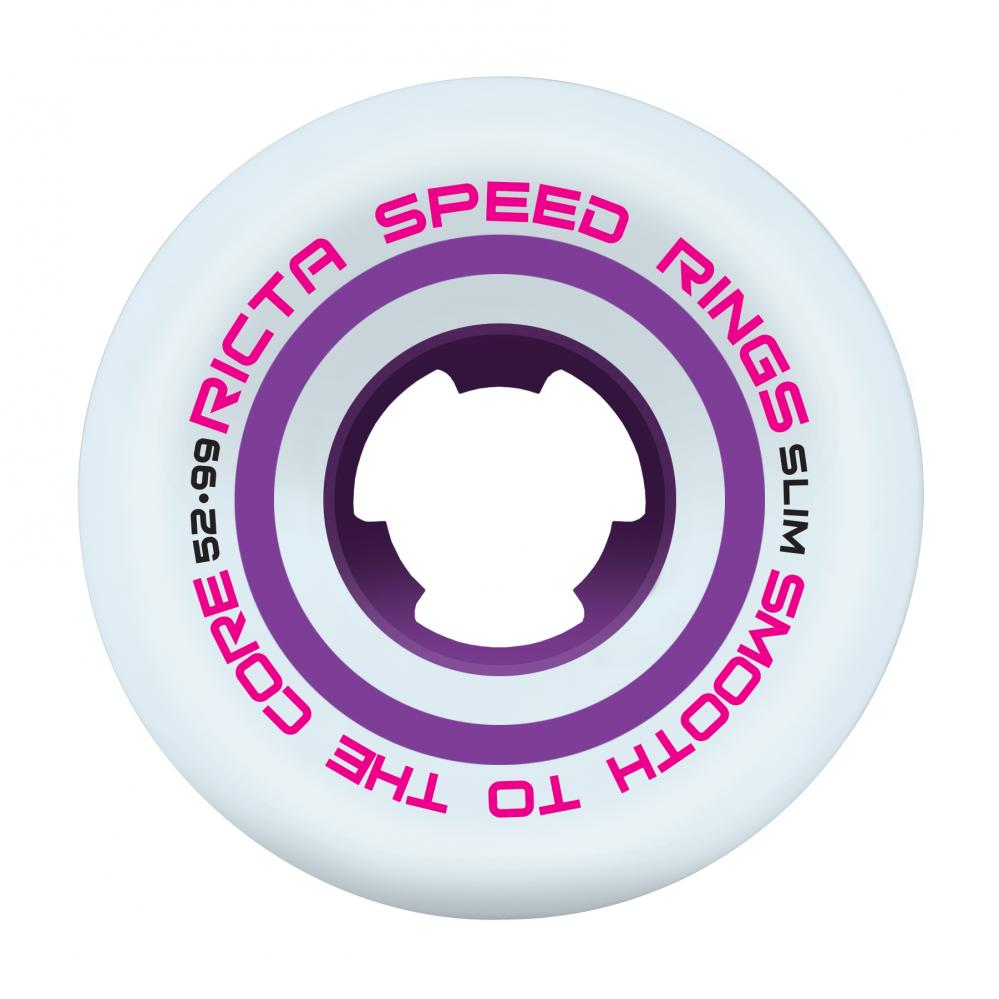 Ricta - 52mm - Speedrings Slim 99a Wheels - White / Purple - Prime Delux Store