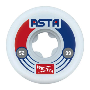 Ricta Wheels - 52mm - Tom Asta Pro Slim 99a - White - Prime Delux Store