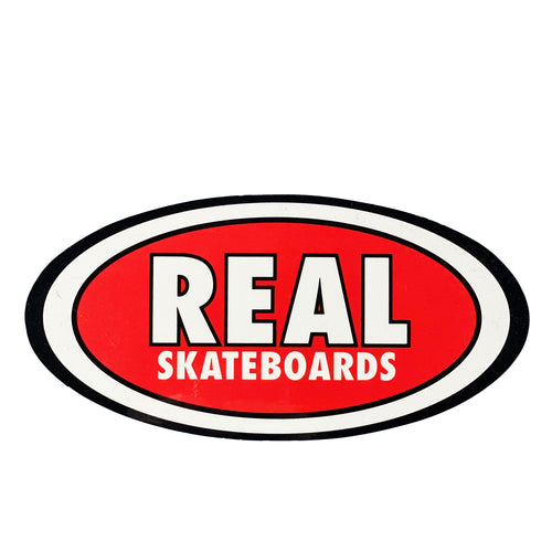 Real Oval Logo Sticker - Red - Prime Delux Store