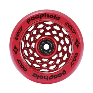 Load image into Gallery viewer, Sacrifice Spy Peephole Wheels 110mm - Red (x 2 / Sold as a pair) - Prime Delux Store