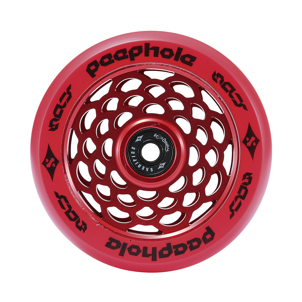Sacrifice Spy Peephole Wheels 110mm - Red (x 2 / Sold as a pair) - Prime Delux Store