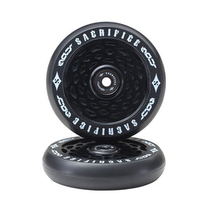 Load image into Gallery viewer, Sacrifice Spy Wheels 110mm - Black / Black  (x 2 / Sold as a pair) - Prime Delux Store