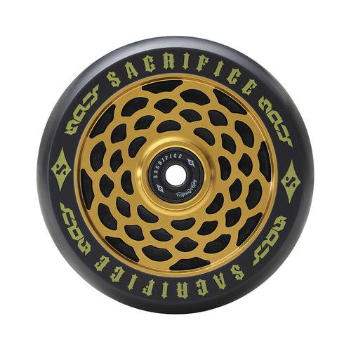 Sacrifice Spy Wheels 110mm - Black / Gold (x 2 / Sold as a pair) - Prime Delux Store