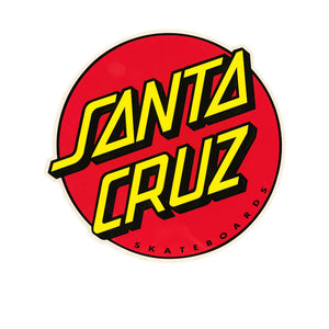 Santa Cruz Classic Dot Logo Sticker - Red - Prime Delux Store