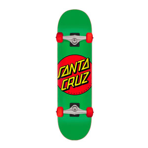 "Load image into Gallery viewer, Santa Cruz - 7.80"" - Classic Dot Complete Skateboard - Green / Red - Prime Delux Store"