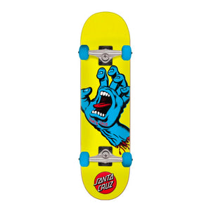 "Santa Cruz Complete Mini Screaming Hand 7.75"" - Yellow / Blue - Prime Delux Store"