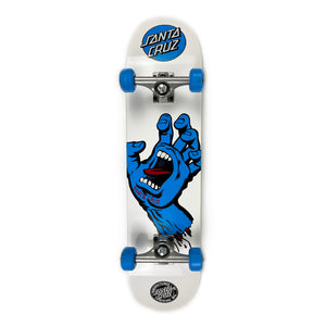 Load image into Gallery viewer, Santa Cruz Screaming Hand Complete Skateboard 7.75 - White / Blue - Prime Delux Store