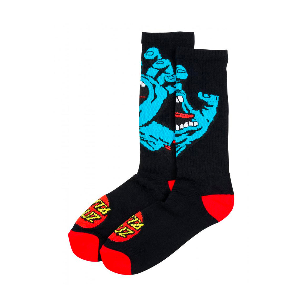 Santa Cruz Socks Screaming Hand - Black - Prime Delux Store
