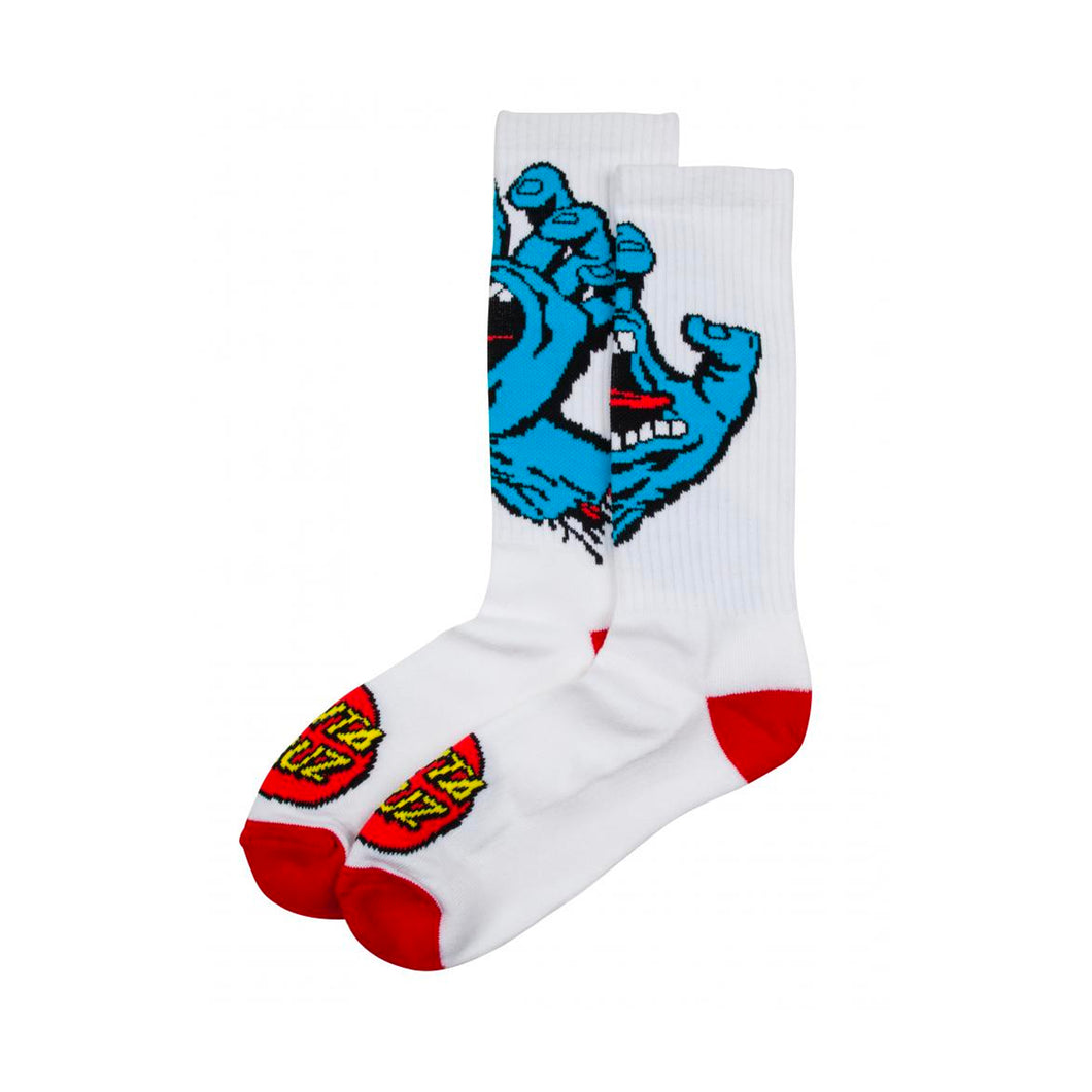 Santa Cruz Socks Screaming Hand White - Prime Delux Store